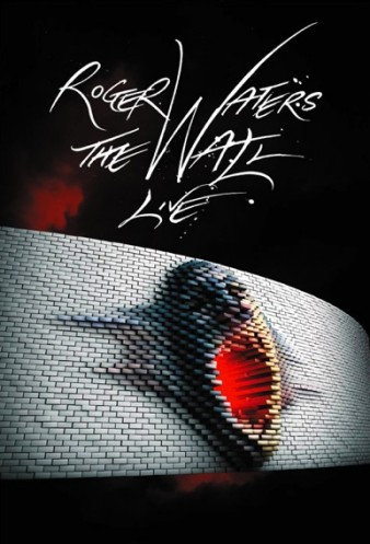 poster image of a spiky shoe below the caption Roger Waters The Wall LIve