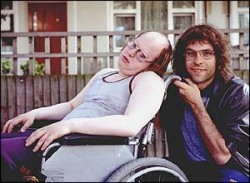 Matt Simpson and David Walliams pose as Lou and Andy from BBCs Little Britain