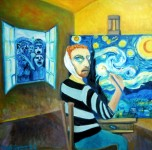 painting titled vincent in the yellow house