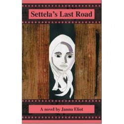 book cover with an illustration of a young woman's face, wearing a head scarf