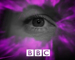 BBC image of an eye within a purple graphic