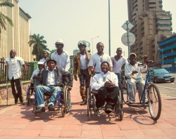 photo of Staff Benda Bilili - a group of eight disabled musicians on the streets of Kinshasa