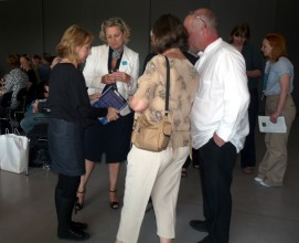 Colour photograph of creative networking event