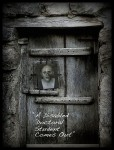 image of an old wooden door with a man's photo