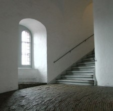 Ramped Walkway within Tower Building in Copenhagen
