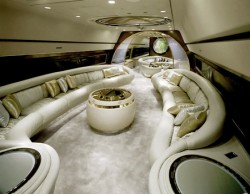 image of the inside of a luxurious aeroplane