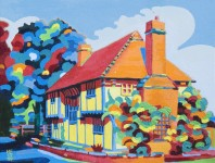 Mike Fryer painting titled Chapter House, Southfleet