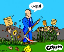 Crippen's cartoon about DLA benefit cuts