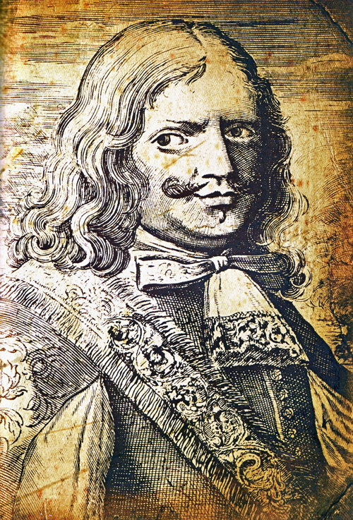 illustration of a 17th century pirate