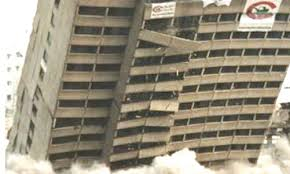 picture of collapsing building