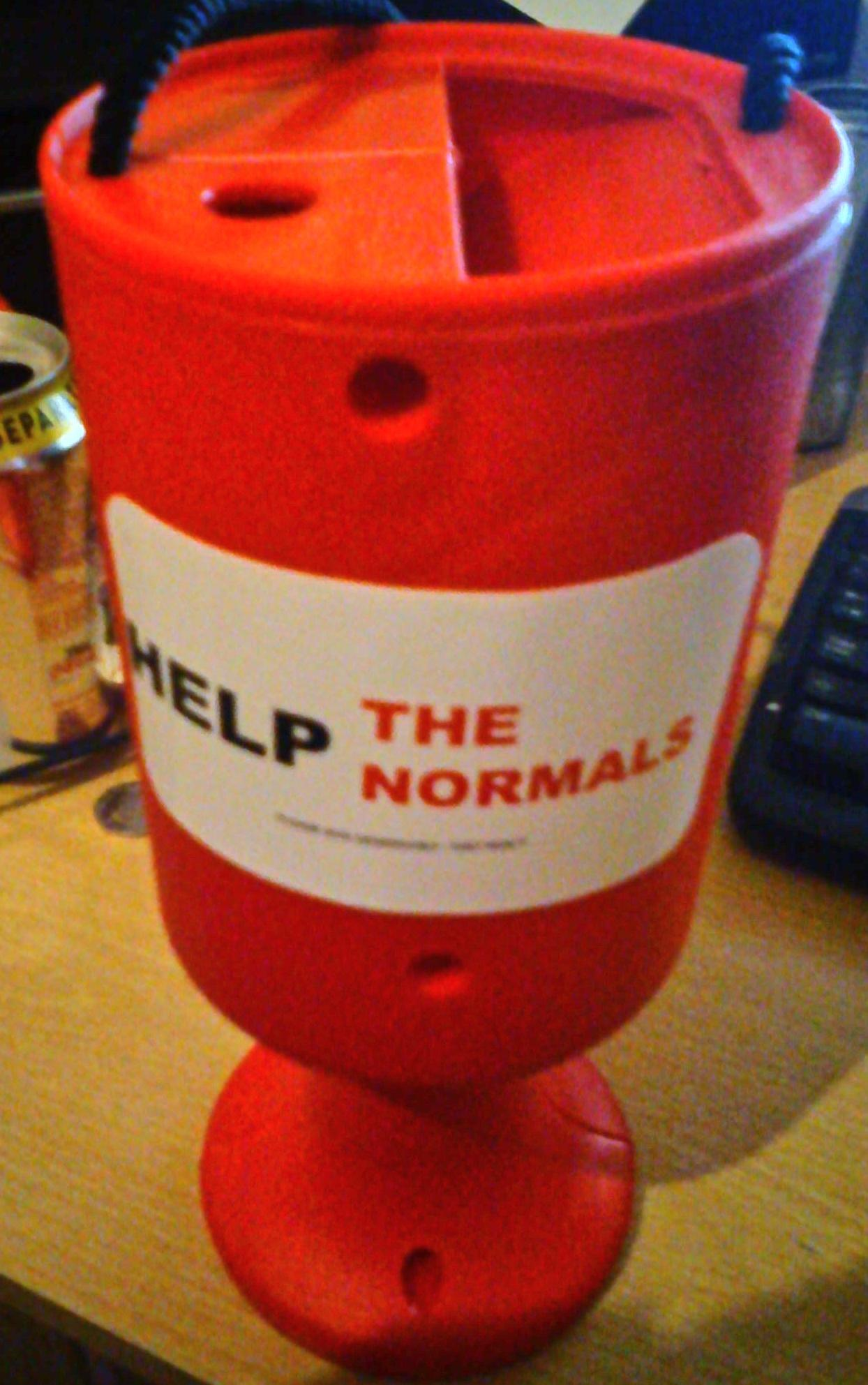 Help the Normals collecting can